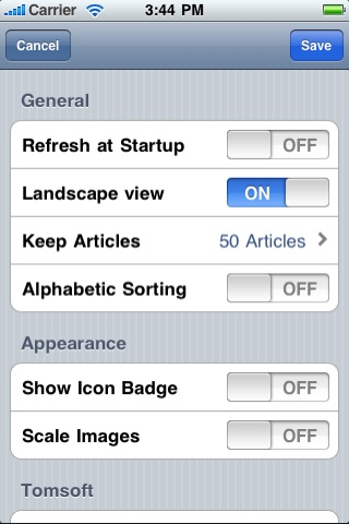 Screenshot WoW News Reader